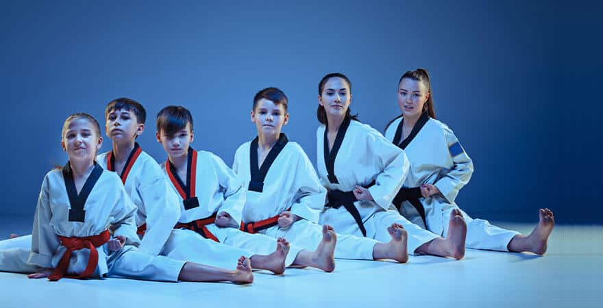Martial Arts Lessons for Kids in Maplewood NJ - Kids Group Splits