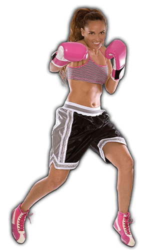 Fitness Kickboxing Lessons for Adults in Maplewood NJ - Pink Boxing Gloves Woman Options Banner