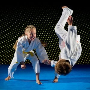 Martial Arts Lessons for Kids in Maplewood NJ - Judo Toss Kids Girl